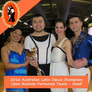 """""""While our accomplishments this weekend are sensational, I'm more astounded by the beautiful relationships that can be cultivated through this world of dance we're all a part of. You guys are my heart. I guess a 1st place Australian Latin Dance Championship title doesn't hurt either? 😜"""" - Katie Boyle 12 July 2016"""